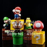 5 PCS NINTENDO SUPER MARIO BROS. YOSHI MASROOM FIGURES Free Shipping Ncie Gift
