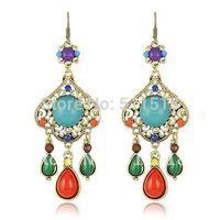 Sleek style earrings alloy earrings jewelry selling 24 pairs / lot free shipping