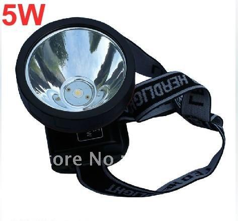 wholesale 5W outdoor exploration camping yellow/white headlamp hunting light fishing light miner site light(China (Mainland))