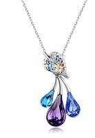 Retail High-end jewelry irregular drops necklace, Austria crystal fashion necklace
