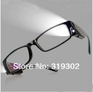 Moins cher de la qualité a mené la lumière led lunettes lunettes de lecture led lecteurs lecture spetacles promotion cadeaux + 1. 0 + 1. 5 + 2. 0 +2.5 + 3. 0