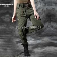 Brand:Free Knight Women HOT Fashion Outdoor Army Cotton Pants Anti-scrape Fabric Size:XXS -5XL Color:Green