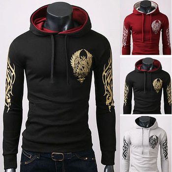 Latest Style Men's Cotton Blends Printing Hoodie,Popular Men's Coat mens hoody jacket Black Grey Wine size:S-M-L-XL C022