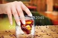 Hot sell // new Free shipping  Doomed Big Beer mug/Rock Crystal Skull Head Vodka Shot Glass