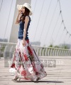 Free shipping(MOQ:One piece) 2012 New arrival Ladies&#39; bohemian chiffon beach dress Size M/L Summer SS-SHYD-15 Wholesale/ Retail