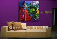 Framed ! Framed /Stretched Oil Painting On Canvas ,Huge ,9pcs/set Framed ready to hang JYJD013