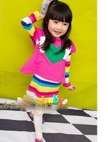 Baby Girls suits children 2 pc set t shirt  + dress girls suit 0727 B lca