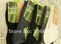 Free shipping Bamboo fiber men's socks color mix 10 pairs / lot  RU005