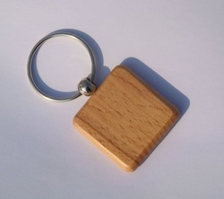 Wholesale 50pcs Blank Wooden Key Chain Promotion Square key ID1.25&#39;&#39;*1.25&#39;&#39; -Free Shipping(China (Mainland))