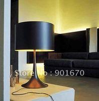 FREE Shipping black or white  aluminum H600mm desk table lamp SPUN light wholesale bedroom light fiture residental  lighting