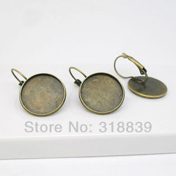 20pcs/lot Vintage Metal French Lever Back Earring Base Blank 18mm Pad Clip Earring Findings 0223(China (Mainland))
