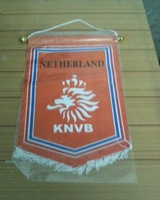 free shipping best seling  holland football team pentagonal hang flags with stem  Netherlands flag
