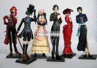 Wholesale - Black Butler Kuroshitsuji Ciel Japan Anime figures figurines 6 pcs set new free shipping