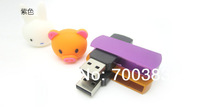 (5PCS)No Printing 4GB USB Drives Brand New Whirl USB Capacity Enough U Disk USB2.0 Flash(4GB) ,USB Memory Stick