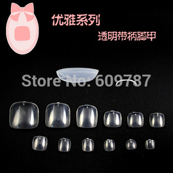 free shipping -10bags*600PCS clear artificial toe nails tip