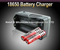 FREE SHIPPING,5PCS/LOT 2x 18650 3000mAh 3.7V Rechargeable Li-ion Battery + Charger