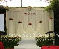 Free shipping wholesale and retail  beautiful  wedding backdrop , wedding background decoration,  wedding backdrop curtains