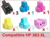 8 pcs New Compatible ink cartridge  HP 363/363XL for Photosmart Printer C7250 C6240 3110 3210 C6180 C7180