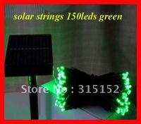Free shipping solar led string,Solar Christmas lighting, solar festival lighitng solar garden lamp, 150leds,17m,SL-DC150G,green