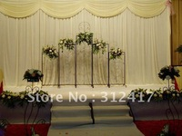 Free shipping wholesale and retail  3m*3m ready made backdrop curtain with swag , wedding backgroud decortaion