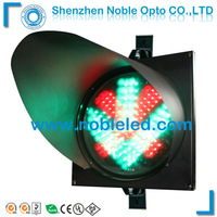 300mm driverway led  vehicle traffic arrow cross light