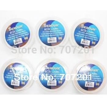 6pcs Seaguar Blue Label Fluorocarbon Leader Material Fishing Line 50YD 15LB 20LB 25LB 30LB  40LB 50LB 60LB 80LB