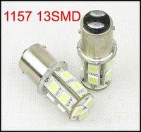 White 13SMD Car LED S25 1157 BAY15D 5050 Dual Indicator Light Bulb Lamp 12V HK Post Free Shipping