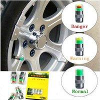 Free shipping/Car Tyre pressure cap/ monitoring alarm/visual  indicating cap/ indicator/Wholesale + Retail