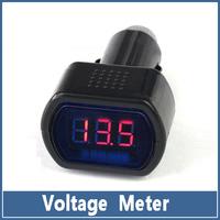 10x 12V/24V Auto Car Voltage Meter Truck Electric Red LED Digital Battery Cigarette Lighter  Gauge Panel VoltMeter Monitor