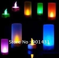 Free Shipping  5PCS/ Lot Sound Control Night Lights 7 Colorful Changable  Romantic LED Lights