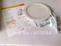 "100% Guarantee 2014 High Quality ultra bright 8"" 14w round led flat panels light 1042lm color white ac100-240v CE&ROHS 28pcs/lot"