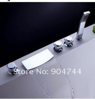 Freeshipping bathroom chrome Waterfall bathtub faucet