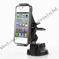 500pcs/lot Universal Car Holder Mobile Phone Holder Mount Stand with 360 Degree rotation for iphone Cell Phones free shipping