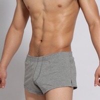Parcel post 2012 Viyate Free Shipping!!!Men's Low Rise Underwear Boxers KT122344 Gray
