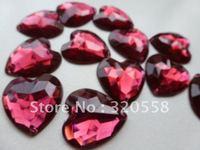 rose red DIY craft  Scrapbooking Embellishment Free Shipping Acryl diamond 50pcs