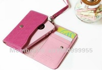 50PC/Lot New Arrival Korea ardium wallet case for iphone 4 4S 3GS,mobile phone card holder wallets,Free shipping