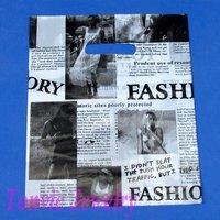 Free Shipping 100 High Quality Plastic Shopping Gift Retail Bag Newspaper 20X25cm