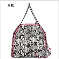 TOP QUALITY imported PVC Stella handbag Falabella Foldover Classic Chain Shoulder bags for women of snakeskin pattern 2sizes