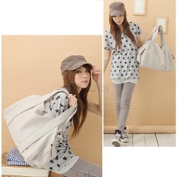 Korean Stylish Style Women's PU Leather Handbag Shoulder Bag Large Capacity 3 Colors