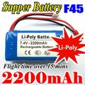 Free shipping MJX F45 F645 RC Helicopter Battery High power capacity 7.4V 2200mAh Li-poly Battery,long Flight time Best Sellers