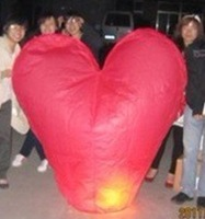 50piece High Quality Large Size 150*150*50cm  3D Heart-Shaped Sky Lantern  Multicolor -----Free Shipping