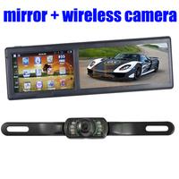 4.3 Inch Bluetooth AV IN FM 4GB car rearview mirror gps wireless camera