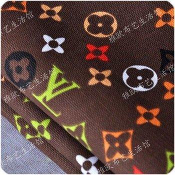 Canvas cloth fabric sofa cotton printing slipcover curtains DIY manual  Wallpapers  410 +5 #