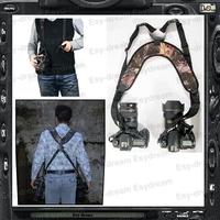 Light & Quick Soft Rapid DecompressNeck Double Dual Shoulder Belt Strap for DSLR Camera PB033