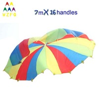 LARGE SIZE DIA 7M PLAY PARACHUTE FOR SCHOOL GAMES, KIDS GAMES, PLAY GAMES, RACING GAMES
