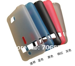 Free ship 30pcs For HTC Thunderbolt 4G INCREDIBLE HD 6400 TPU Skin back soft cover(China (Mainland))