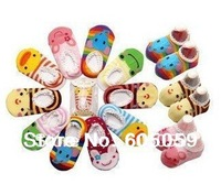 10 Pairs Lot Baby socks Infant anti slip socks  Baby care wholesale good quality Good for foot length less 14 cm baby uhba001