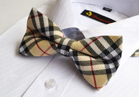 Mens Pre-tied Adjustable Neck Bowtie Bow Tie Red Black Plaid Cotton Bow Tie 420Color Can Choose Free Shipping 10 pcs