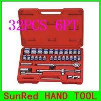 "BESTIR Cr-V STEEL 32PCS 1/2""Dr.6PT Socket(metric) 12.5MM Blue Band Socket Wrench Set Car DIY Tool Kit,NO.91317 VIP Version"
