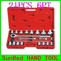 "BESTIR 21PCS 3/4""Dr.6PT Socket(metric) 19MM Socket Set Industrial-Mineral Tool Wrench kit Car Emergency Tool,NO.91501 HOT!!!"